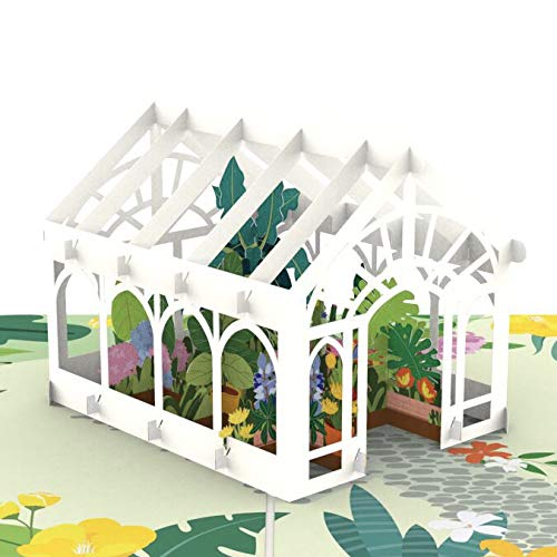 Liif Mother's Day Greenhouse Pop Up Card, 3D Greeting Cards For All Occasions, Birthday, Valentines Day, Mother's Day, Father's Day, Wedding Card, Anniversary Card,for Her, Moms, -