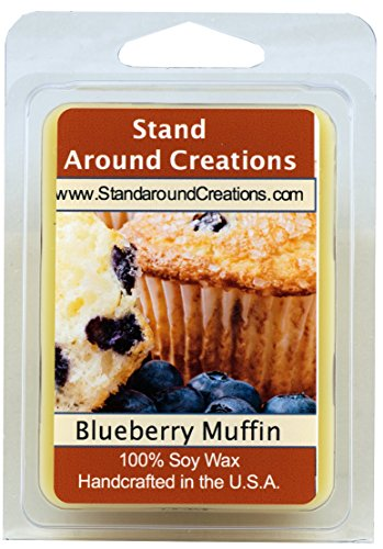Baked Muffins - 100% Soy Wax Melt Tart - Blueberry Muffins: The aroma of freshly baked blueberry muffin w/ juicy tart blueberries w/ notes of butter cake 3oz.