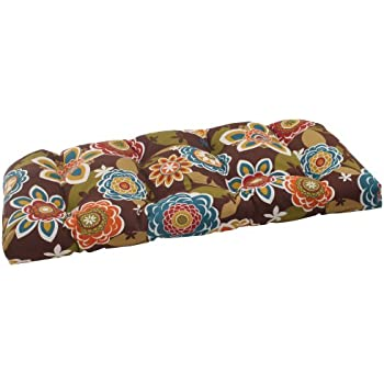 Pillow Perfect Indoor/Outdoor Annie Wicker Loveseat Cushion, Chocolate