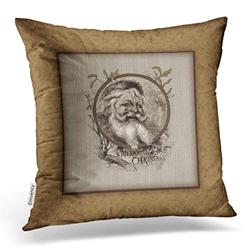 Emvency Throw Pillow Case Dec Christmassy Thomas Nast Santa Claus Christmas Pillow Case Cushion Cover Case Pillowcases Square 18x18 inch