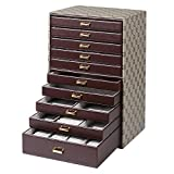 JIANGU 10-Layer Large-Capacity Jewelry Box Jewel Box Drawer Storage Box - Shelves for Your Favourite Eye Shadows Cosmetics and Make Up-Colors