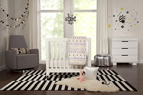 ams 4-Piece Mini Crib Set (Da Vinci Mini Crib Bedding)