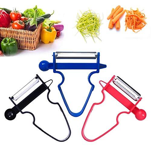 - Magic Trio Peeler Stainless Steel Multi-purpose Vegetable Peeler & Julienne Cutter Fruits Salad Shredder Tool (Multi)