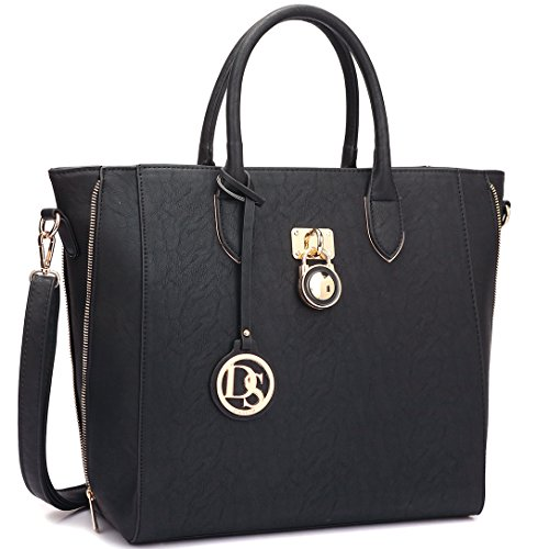 Extra Large Satchel Handbags Leather Tote Designer Purse w/Removable Shoulder Strap ()