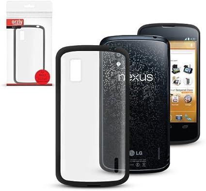 Orzly® - LG NEXUS 4 - Caja DURO Fusión Gel Funda NEGRO (Alias ...