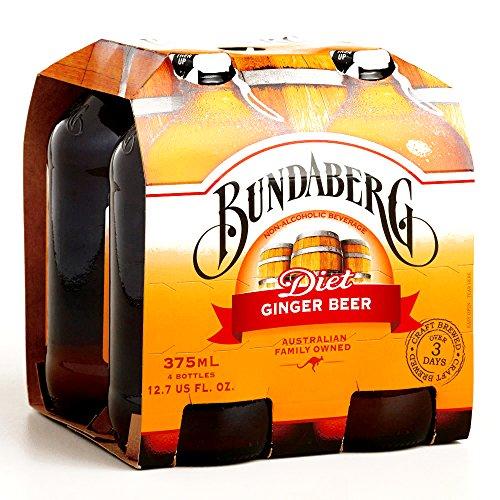 Bundaberg Diet Ginger Beer 4-Pack 11.5 oz each (2 Items Per Order)