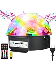 GUSODOR Disco Licht Bühne Licht LED Lichteffekte MP3 Musik Player RGB Sprachaktiviertes Kristall Magic Ball Party Beleuchtung für Show Disco KTV Stab Stadium Club Hochzeit Geburtstag Party