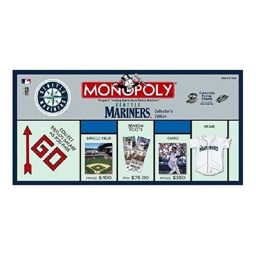 (USAopoly Seattle Mariners Baseball Collector's Edition Monopoly Board Game )