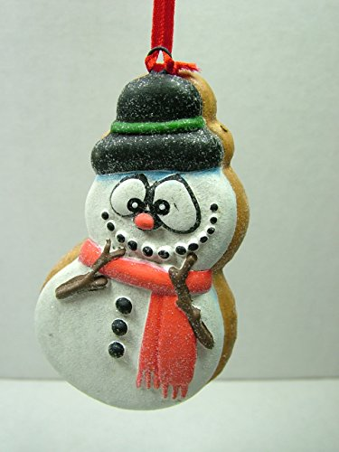 Snowman Frosted Cute Sugar Cookie Scarf Christmas Tree Ornament C