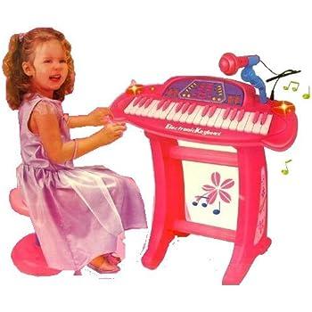 Amazon Com Kids Authority 36 Keys Pink Piano Keyboard
