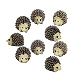 COOLTOP 10pcs Resin Mini Hedgehogs Miniature House Fairy Garden Home Garden Decoration Plant Pots Bonsai Craft Decor