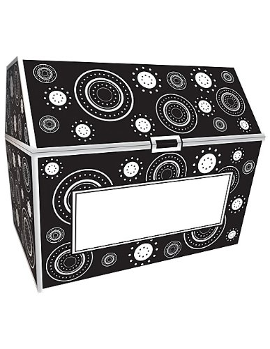 Teacher Created Resources Black & White Crazy Circles Chest (5088) by Teacher Created Resources