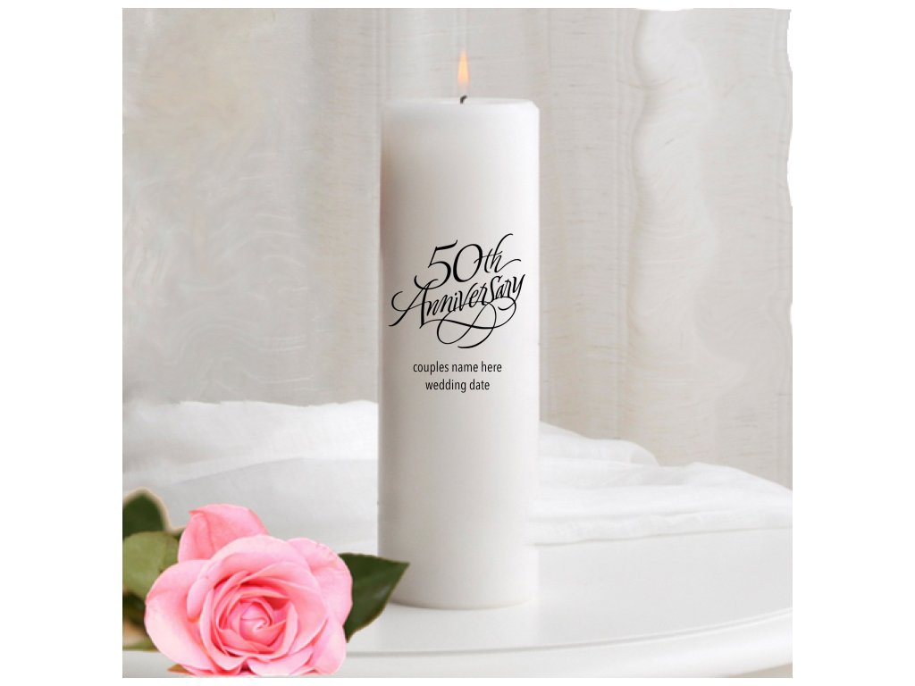 50th Wedding Anniversary Unity Candle by MICHELE