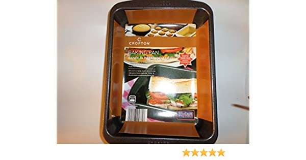 Amazon.com: Crofton Toaster Oven Non Stick Baking Pan - 8.4 x 6.4 x 1.7 in: Kitchen & Dining