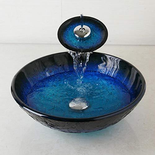 bath bathroom tempered glass vessel