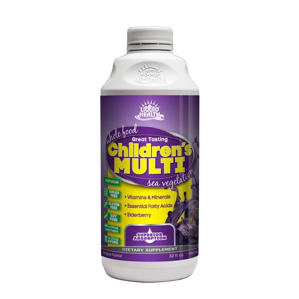 b7df2d965d82 Liquid Health Products Children's Multi Sugar Free, Grape, 32 Fluid Ounce
