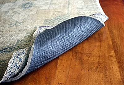 Superior Lock Area Rug Pad by Rug Pad USA, Non-Slip Felt & Rubber Rug Padding for Hardwood Floors, Rug Preservation + Floor Protection