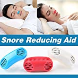 Joruby Advanced 2-in-1 Anti Snoring Devices - Snoring Solution Snore Nasal Dilators - Nose Vents Clip Snore Stopper to Ease Breathing and Snoring for Natural and Comfortable Sleep (RED)