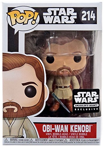Funko Pop Vinyl Star Wars Obi-Wan Kenobi Exclusive Bobblehead Figure 214