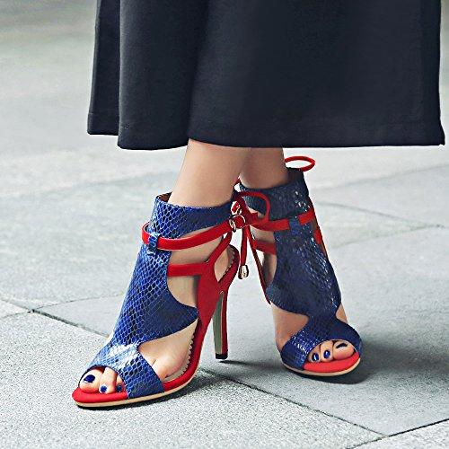 Partito Tacchi Rongzhi Donne Rosso Vestito Delle Da Toe Caviglia Sandali Pompe Fibbia Scarpe Alti Stiletti Open Tallonati Delle Della rqwTSIgr