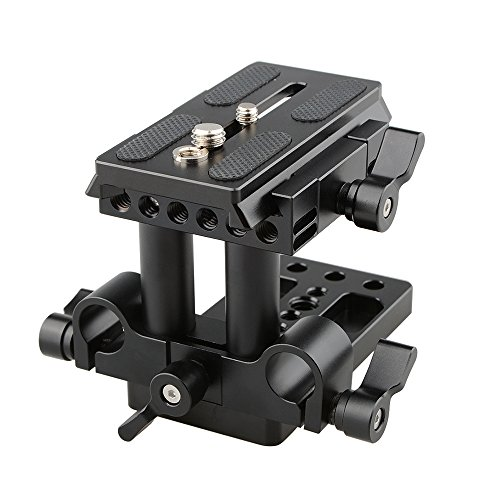 CAMVATE Quick Release Mount Base QR Plate for Manfrotto 501/504/ 577/701 Tripod Standard Accessory(Black)