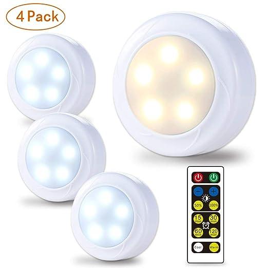 Lunsy Led Lampes De Puck Dressing Lumieres Sans Fil 3 Aa A Piles