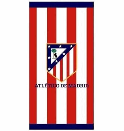 Atlético de Madrid Toalla Polyester Microfibra Tacto Terciopelo, 140x70 cm: Amazon.es: Hogar