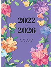 2022-2026 Monthly Planner Hardcover: 2022-2026 Monthly Planner 5 Years , 60 Months Calendar, Agenda Schedule Organizer and Appointment Book with Floral Hardcover