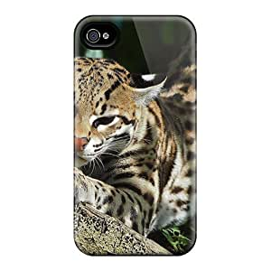 New Style HardDiy For SamSung Galaxy S4 Case Cover Beautiful Ocelot In The Bushes