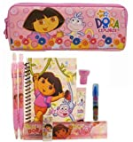 Dora Pencil Case and Stationery Set - Pink