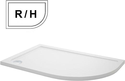 Lujo 900 x 760 R/H compensado de perfil bajo platos de ducha de ...
