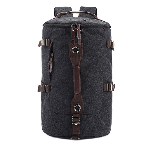 ackpack Travel Daypack Tote bag Black Camping Handbags (Cellini Bread)