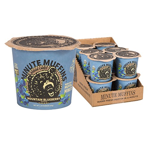 Kodiak Cakes Minute Muffins High Protein Snack, Mountain Blueberry, 2.29 Ounce (Pack of 12) -