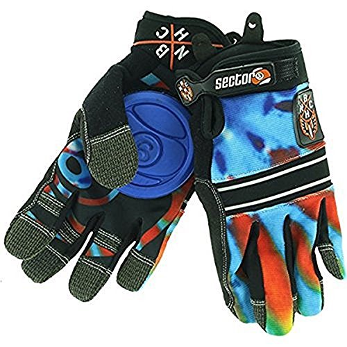 sector-9-bhnc-adult-slide-skateboard-gloves-acid-blue-small-medium