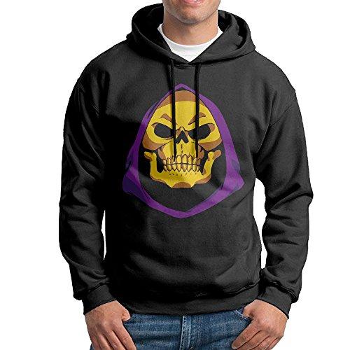 Bekey Men's LOL Skeletor Pullover Hoodie Sweatshirt XL (Skeletor Cosplay Costume)