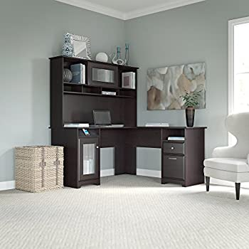 Amazon Com Bush Furniture Tuxedo L Shape Wood Computer