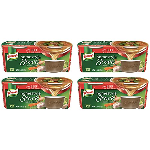 Price comparison product image Knorr Homestyle Stock Concentrated Broth, Beef 4.66 oz, (4 count) 4 Packs