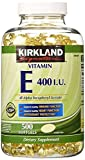 Kirkland Signature Vitamin E 400 I.U. 500 Softgels, 4 Bottles