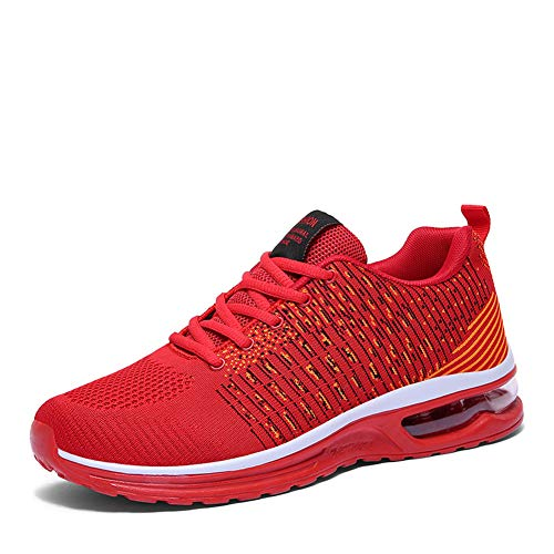 e6a03089dad Hommes Basket Femme Chaussures Course Mode Running Sports Tqgold® De  Sneakers Rouge Gym Fitness Hq1dnA .