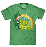 Lucky the Leprechaun Logo  Soft Touch Tee-large Kelly Heather
