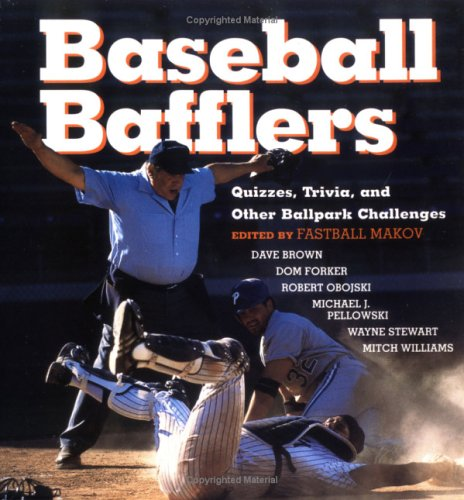 Download Baseball Bafflers: Quizzes, Trivia, and Other Ballpark Challenges pdf