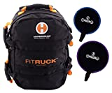Hyperwear Fit Ruck Convertible Sandbag Training Ruck Sack/Sand Bell Package, Black/Orange, 2400 cu. in./20 lb