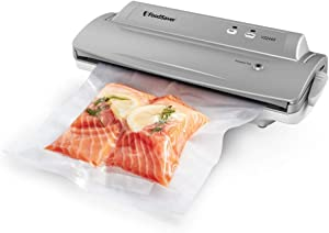 FoodSaver V2244 Vacuum Sealer Machine for Food Preservation with Bags and Rolls Starter Kit   Number 1 Vacuum Sealer System   Compact and Easy Clean   UL Safety Certified   Silver