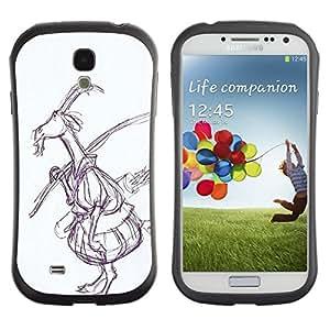 "Hypernova Slim Fit Dual Barniz Protector Caso Case Funda Para SAMSUNG Galaxy S4 IV / i9500 / i9515 / i9505G / SGH-i337 [Dibujo Arte del cuento de hadas del bosque""]"