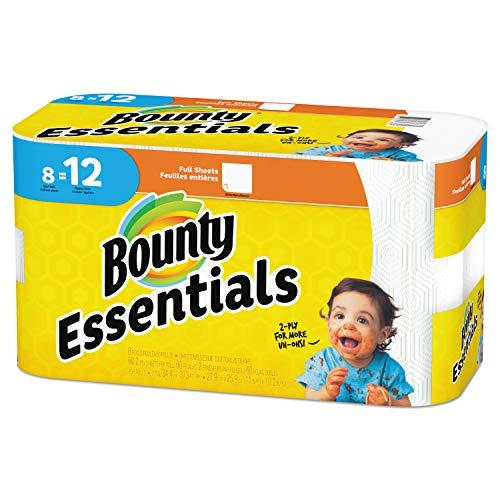 Bounty Essentials Paper Towels, Full Sheet, 8 Giant Rolls ()