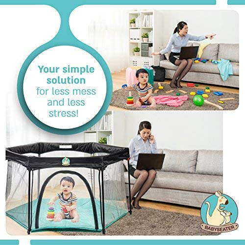 BabySeater Portable Playard Play Pen for Infants and Babies