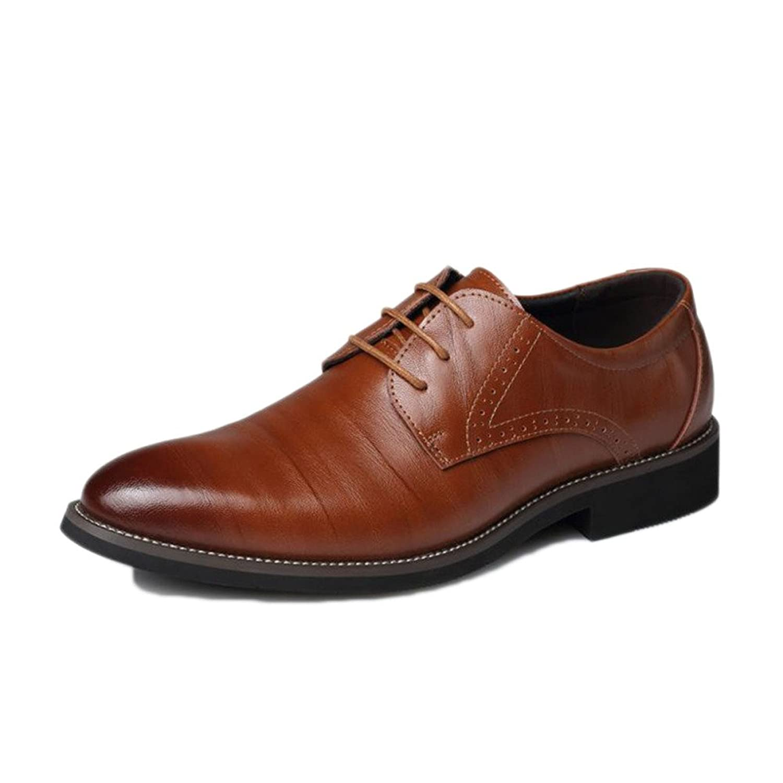 snfgoij Junge Lederschuhe Schwarze Krawatte Lässig Weichen Commerce Sommer Schuhe Tipp Jugend Krawatte,Brown-43