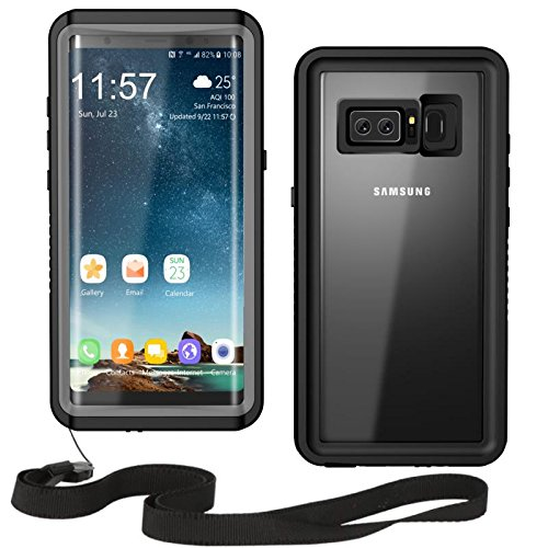 Samsung Galaxy Note 8 Waterproof Dustproof Snowproof Shockproof Case, Moskee IP68 Certified Underwater Full Body Protective Cover Snowproof Dirtproof