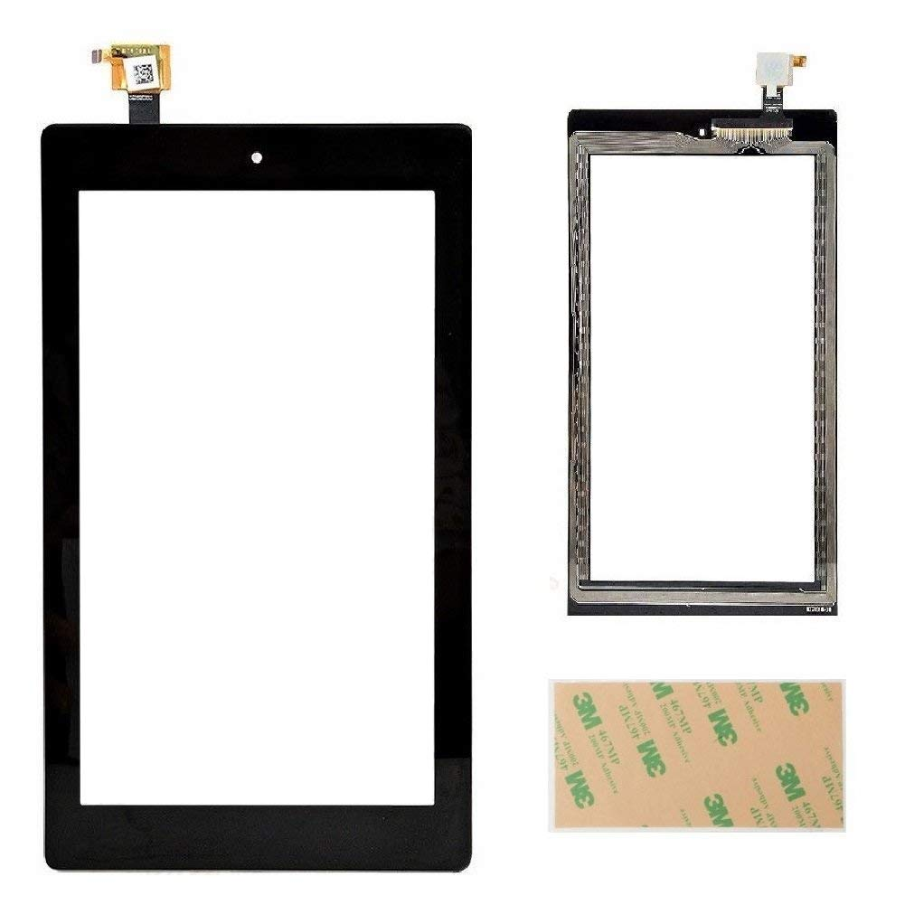 XRmarket Touch Screen Glass Digitizer Replacement for Fire 7 (7th Generation 2017 Release SR043KL) with Adhesive, NO LCD,NO Instructions(NOT for Fire 7 2015&7th kids edition)