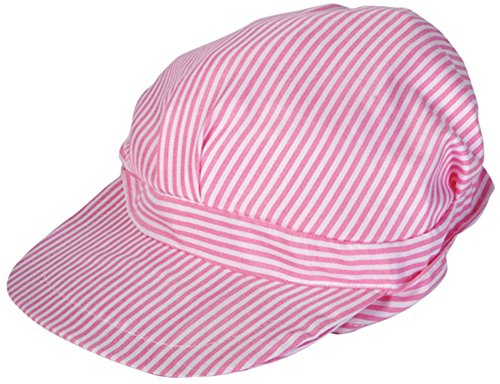 Kids Girls Pink & White Engineer Train Conductor Engineer Hat Costume Uniform (Engineer Uniform)
